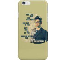 David Tennant - He's wonderful iPhone Case/Skin