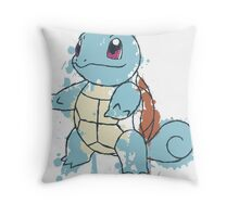Squirtle Painted  Throw Pillow