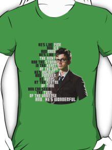 David Tennant - He's wonderful T-Shirt