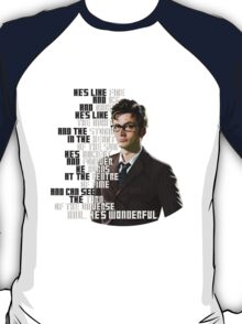 David Tennant - He's wonderful T-Shirt