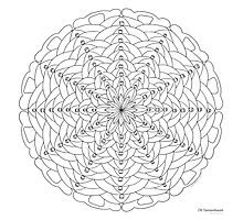 Oh Tannenbaum Mandala Print - Color Your Own! Photographic Print