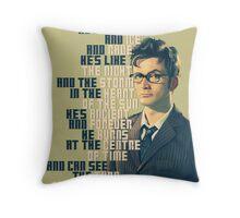 David Tennant - He's wonderful Throw Pillow