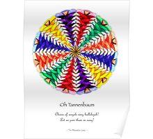 Oh Tannenbaum Mandala Poster Poster