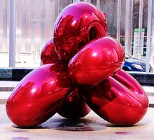 Jeff Koons Red Balloon by VDLOZIMAGES