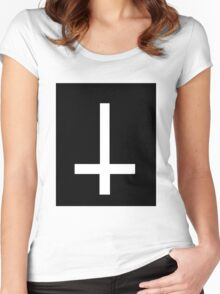 Inverted Cross Women's Fitted Scoop T-Shirt