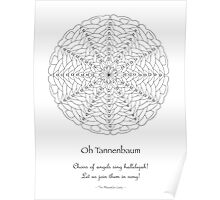 Oh Tannenbaum Mandala Poster - Color Your Own! Poster