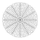 Oh Tannenbaum Mandala Card - Color Your Own! by TheMandalaLady