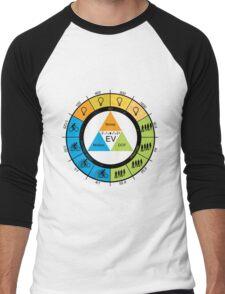 F-Stop Aperture Shutter Chart Men's Baseball ¾ T-Shirt
