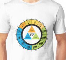 F-Stop Aperture Shutter Chart Unisex T-Shirt
