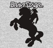 BraveStarr - Thirty Thirty and BraveStarr  - Solid Black - Shadow Art by DGArt