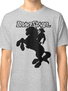 BraveStarr - Thirty Thirty and BraveStarr  - Solid Black - Shadow Art Classic T-Shirt