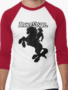 BraveStarr - Thirty Thirty and BraveStarr  - Solid Black - Shadow Art Men's Baseball ¾ T-Shirt