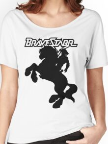 BraveStarr - Thirty Thirty and BraveStarr  - Solid Black - Shadow Art Women's Relaxed Fit T-Shirt