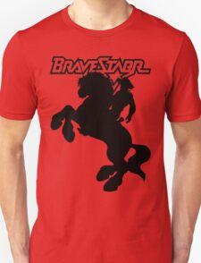 BraveStarr - Thirty Thirty and BraveStarr  - Solid Black - Shadow Art Unisex T-Shirt