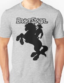BraveStarr - Thirty Thirty and BraveStarr  - Solid Black - Shadow Art T-Shirt