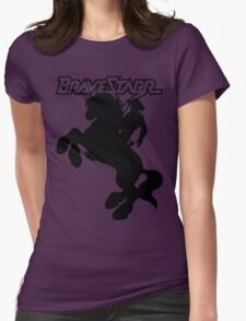 BraveStarr - Thirty Thirty and BraveStarr  - Solid Black - Shadow Art Womens Fitted T-Shirt