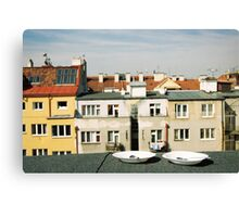 Breakfast on the rooftop Canvas Print