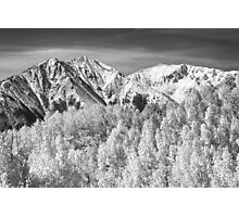 Colorado Rocky Mountain Autumn Magic Black and White Photographic Print