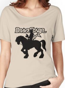 BraveStarr - Thirty Thirty and BraveStarr #2  - Solid Black - Shadow Art Women's Relaxed Fit T-Shirt