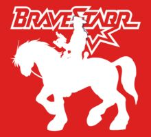 BraveStarr - Thirty Thirty and BraveStarr #2  - Solid White - Shadow Art Kids Tee