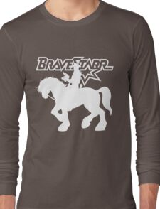 BraveStarr - Thirty Thirty and BraveStarr #2  - Solid White - Shadow Art Long Sleeve T-Shirt