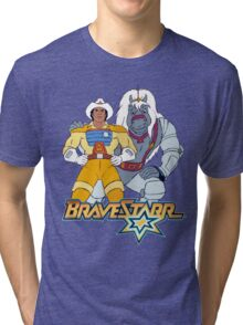 BraveStarr - Thirty Thirty and BraveStarr #3  - Color Tri-blend T-Shirt