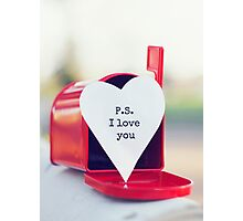 P.S. I Love You Photographic Print