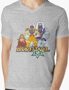 BraveStarr - Thirty Thirty, Fuzz and BraveStarr - Color Mens V-Neck T-Shirt