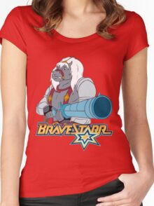 BraveStarr - Thirty Thirty and Sara Jane - Color Women's Fitted Scoop T-Shirt