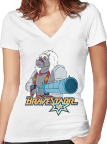 BraveStarr - Thirty Thirty and Sara Jane - Color Women's Fitted V-Neck T-Shirt