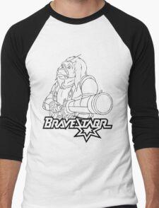 BraveStarr - Thirty Thirty and Sara Jane - Black Line Art Men's Baseball ¾ T-Shirt