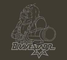 BraveStarr - Thirty Thirty and Sara Jane - White Line Art Unisex T-Shirt