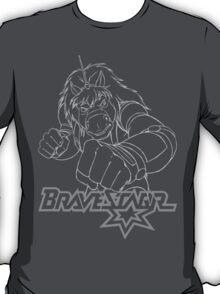 BraveStarr - Thirty Thirty - White Line Art T-Shirt