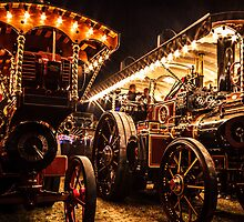 Traction Engines At Night by Steven Dworak