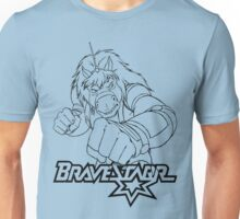 BraveStarr - Thirty Thirty - Black Line Art Unisex T-Shirt