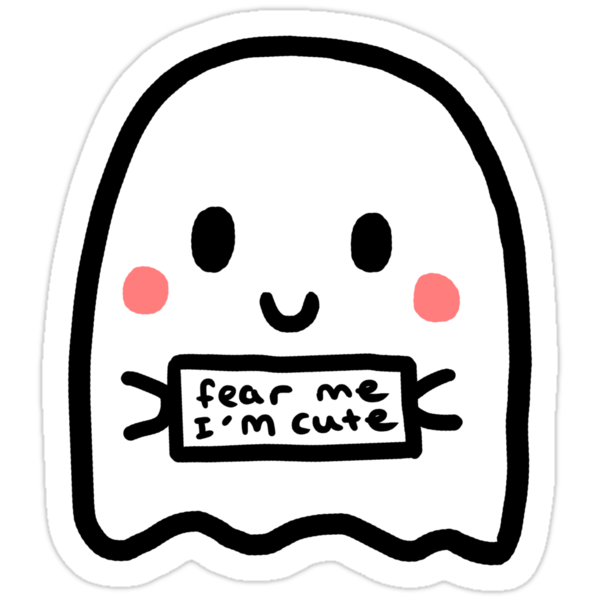 """Fear Me I'm Cute!"" Stickers by Adele Mayr 