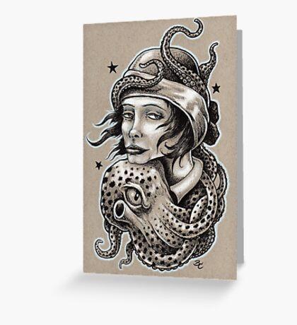 Octopus Hug Greeting Card