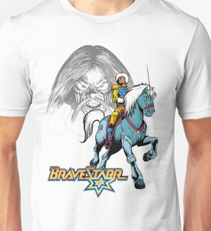 BraveStarr - Tex Hex, Thirty Thirty, and BraveStarr  - Color Unisex T-Shirt