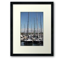 yacht masts  Framed Print