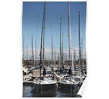 yacht masts  Poster