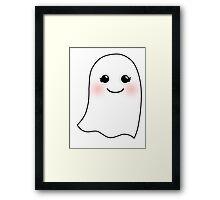 Horrifying Cute Ghost - Girl Framed Print