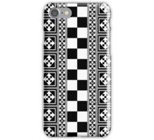 Portugese Patterns Black, Grey, White case iPhone Case/Skin