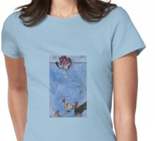 Ribbon wood and ground birds Womens Fitted T-Shirt