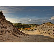 Low sun over the dunes Photographic Print