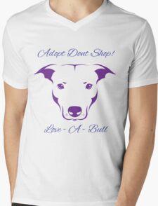 Adopt Don't Shop Love - A - Bull Graphic! Mens V-Neck T-Shirt