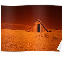 Infra Red Seaweed Hut Poster
