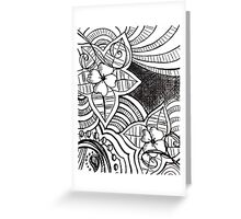 far out flowers Greeting Card