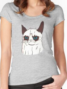 Grumpy Cat Women's Fitted Scoop T-Shirt