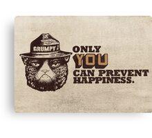 Grumpy PSA Canvas Print
