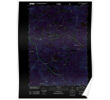 USGS Topo Map  Vermont VT Mount Holly 20120709 TM Inverted Poster